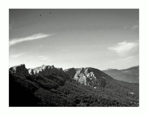 Vistas de Urbasa-Andía desde el Mirador de Lizarraga. Navarra